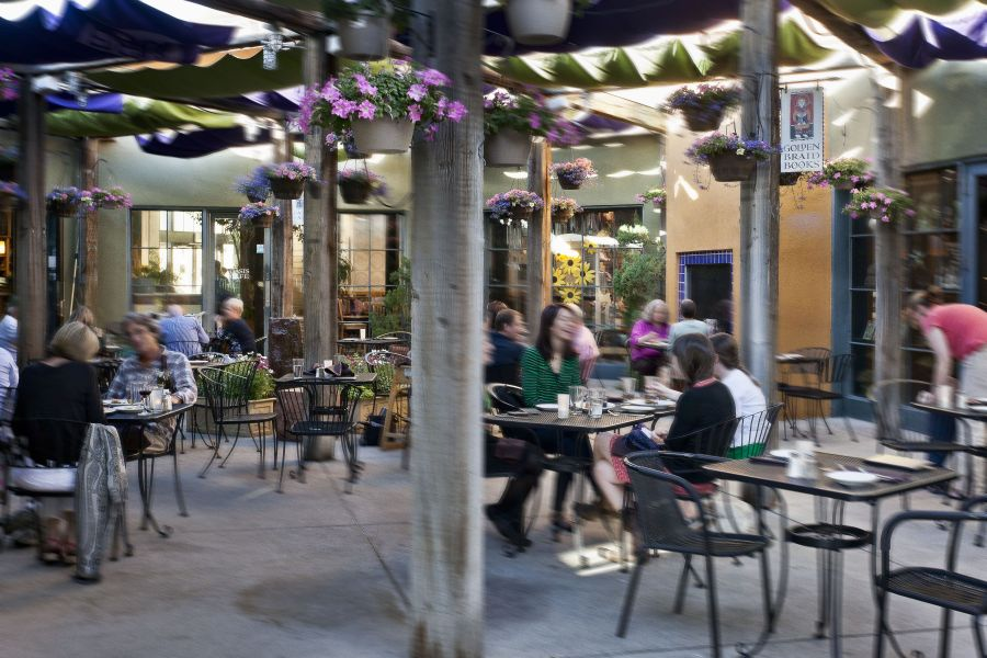 Oasis Patio with Diners