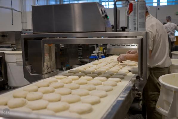 Shaping the ciabatta loaves