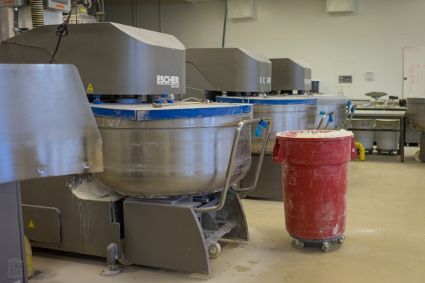 Three of their large mixing machines