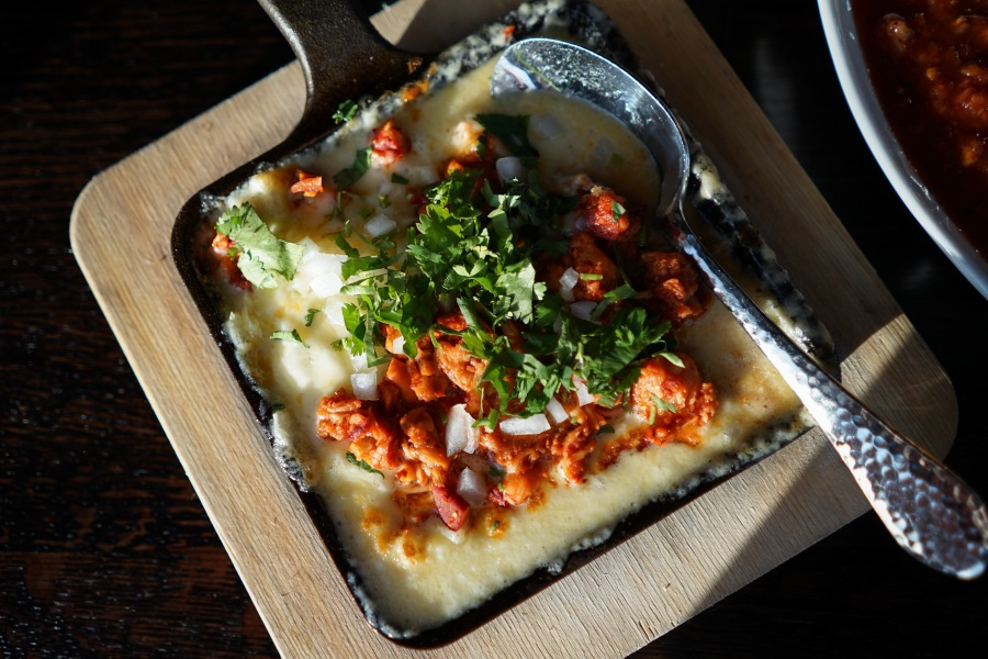 Queso Fundido with Lobster