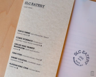 Photo of the menu at SLC Eatery