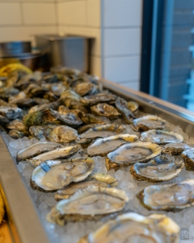 A photo of Blue Point Oysters