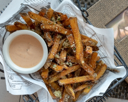 Garlic herb fries